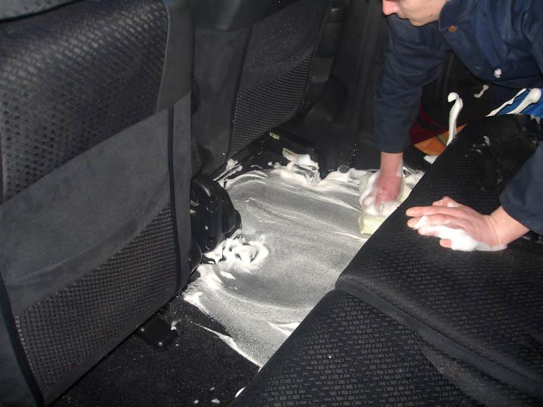 Химчистка пола автомобиля